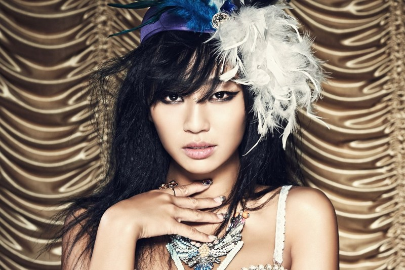 korean kpop girl group band sistar hyorin black hair color dye hairstyles for girls kpopstuff