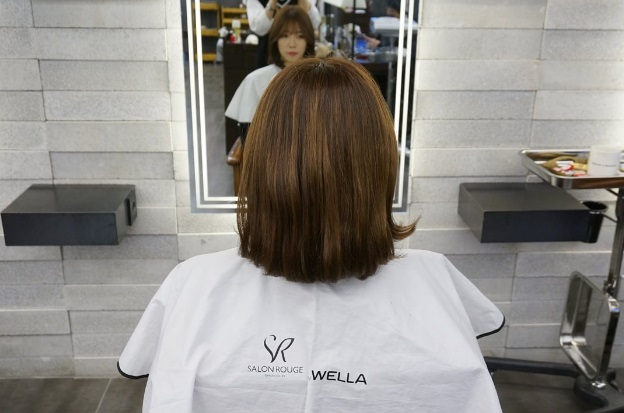 korea korean girls women hot trending style short hair c-curl perm see through bangs back profile kpopstuff