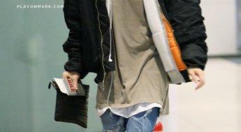 korea korean kpop idol boy band group got7 GOT7 Mark's airport fashion layered look outfits for guys kpopstuff
