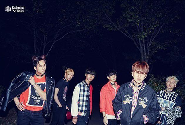 korea korean kpop idol boy band group vixx choker fashion chained up concept photoshoot for guys casual kpopstuff
