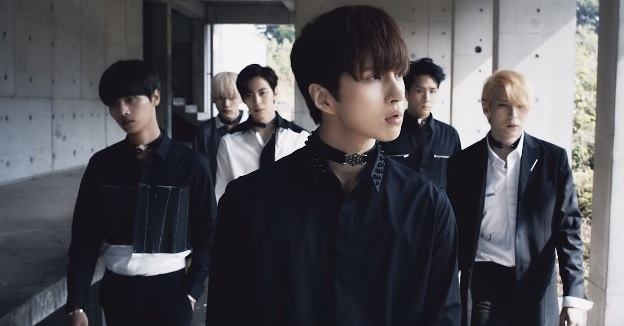 korea korean kpop idol boy band group vixx choker fashion chained up mv chokers on black clothes for guys kpopstuff
