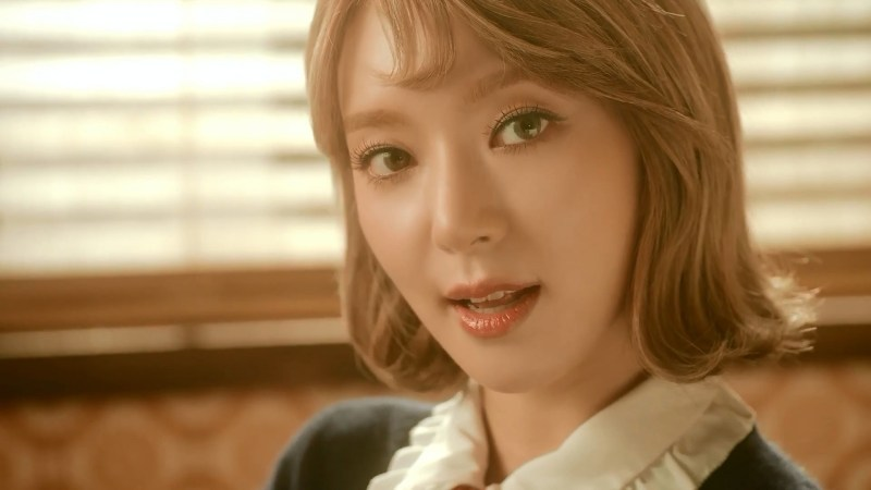 korea korean kpop idol girl band group aoa choa's new lob hair excuse me detective concept long bob hairstyles for girls kpopstuff