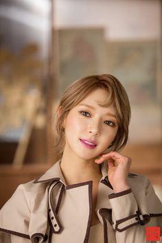 korea korean kpop idol girl group band aoa choa's new lob hair excuse me comma hair trend hairstyles for girls kpopstuff