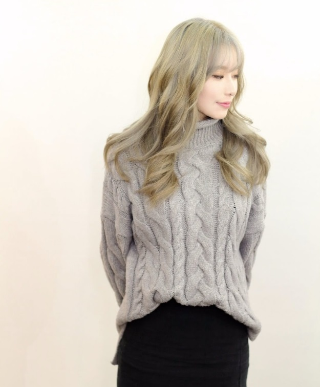 korea korean kpop idols girl group band how to kpopstar tutorial blonde ash brown hair color dye wavy hairstyles for girls kpopstuff right profile