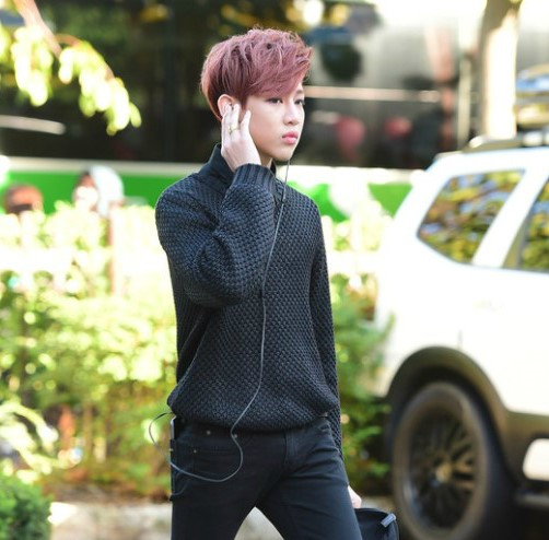 korea korean kpop idol boy band group got7 bambam's lavender unbalanced two block haircut cut for guys kpopstuff