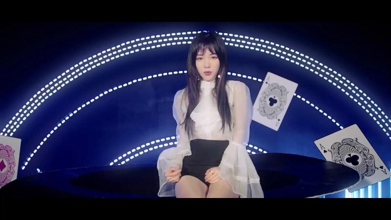korea korean kpop idol girl group band aoa mina's layered cut bing bing mv haircut long hairstyles for girls kpopstuff