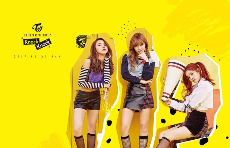korea korean kpop idol girl group band twice's knock knock fashion chaeyoung momo dahyun black checked stripes teaser fashion outfit for girls kpopstuff