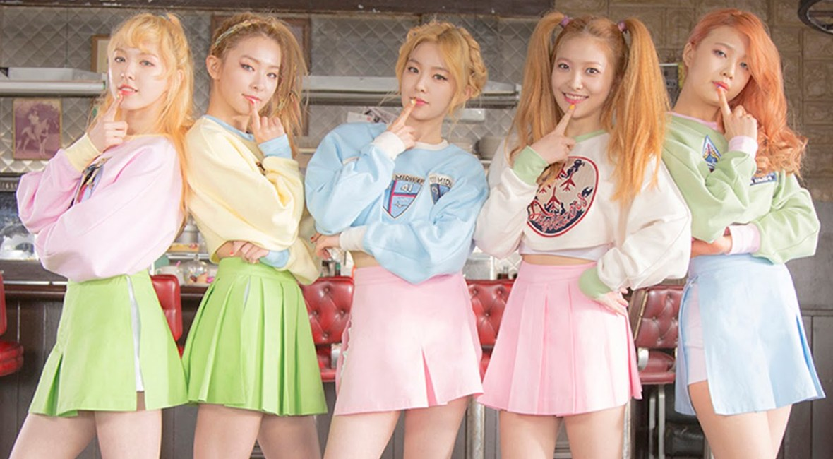 Korea Korean kpop idol girl group band red velvet's ice cream cake hairstyles light hair color for girls kpopstuff