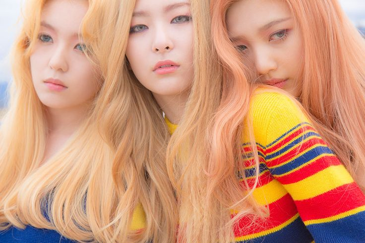 Korea Korean kpop idol girl group band red velvet's ice cream cake hairstyles blonde light hair color hairstyle for girls kpopstuff