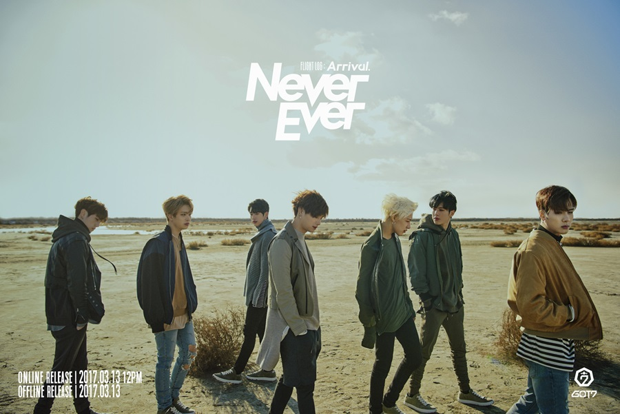 korea korean kpop idol boy band group GOT7's never ever fashion looks outfits bomber leather jacket outerwear for guys kpopstuff