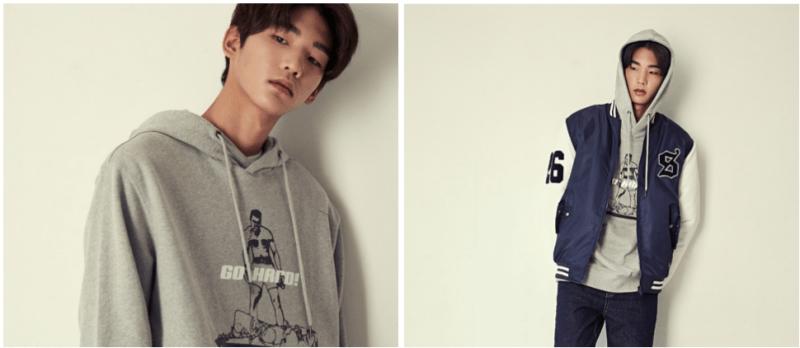 korea korean kpop idol boy band group Got7's hard carry hoodies grey sweater model look jacket fashion for guys kpopstuff