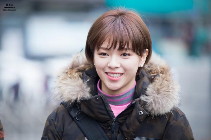 korea korean kpop idol girl band group twice jungyeon's short pixie cut haircut shortcut bob grown out long hairstyles hair for girls kpopstuff