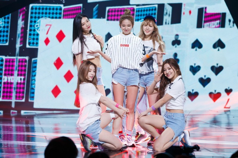korea korean kpop idol girl group band red velvet's jeans from dumb dumb destroyed ripped denim jean fashion looks mcountdown kpopstuff