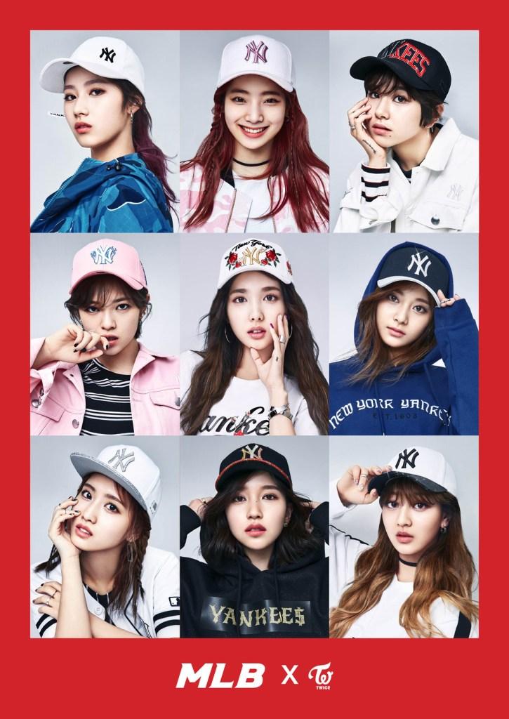 f1134f680 korea korean kpop idol girl group band twice's sporty looks mlb korea cap  baseball sporty hip
