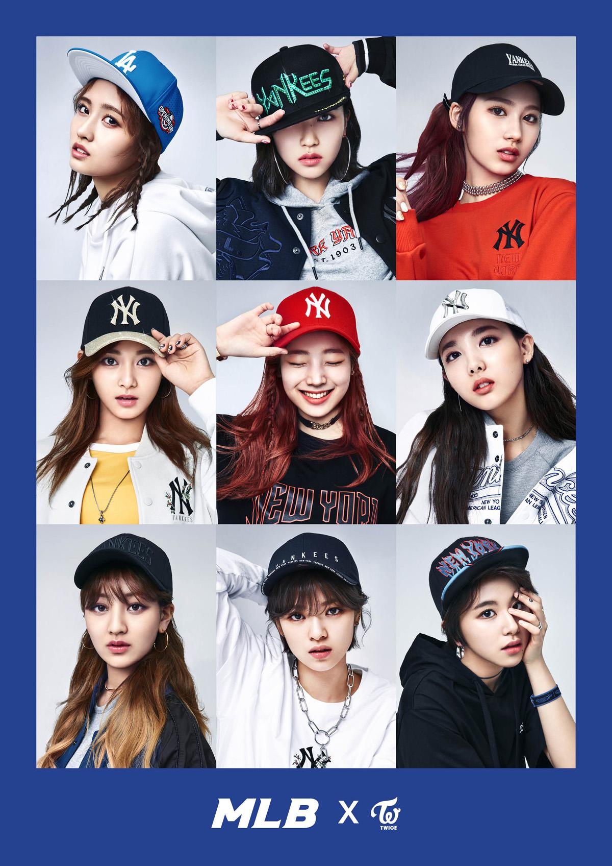 korea korean kpop idol girl group band twice's sporty looks mlb korea cap sporty baseball streetwear casual hip hop inspired fashion outfits for girls kpopstuff ma