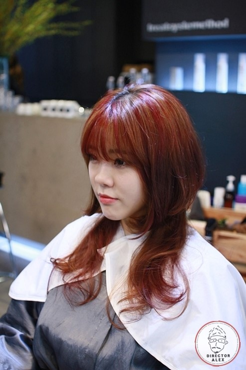 korea korean kpop idol kdrama actress red bold two block haircut finished look hairstyles for girls kpopstuff