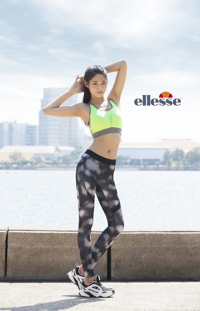 korea korean kpop idol girl group band aoa seolhyun's workout fashion looks gym style green sports bra yoga pants exercise looks girls kpopstuff