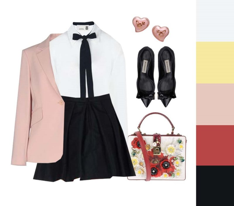 korea korean kpop idol girl group band wedding outfit recommendations outfits for girls black skirt white bow shirt pink jacket style lookbook kpopstuff