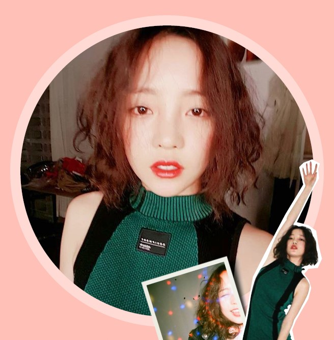 korea korean kpop idol girl group band kara gu hara fx sulli's hippie perm looks hair lob short haircut curly messy waves hairstyles girls women kpopstuff