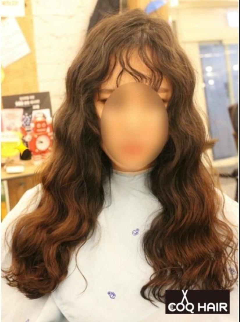 Koreanwomenshairstyletrendkoreanpoodlebangtrendpermedbangs