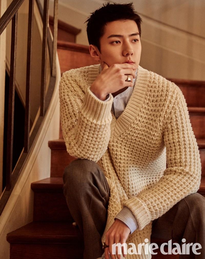 korea korean kpop idol boy band group exo sehun's fashion style for marie claire july paris photoshoot style outfits guys men kpopstuff