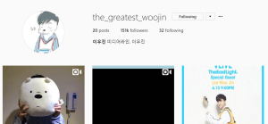 leewoojinproduce101season2instagramaccountmedialineentertainment