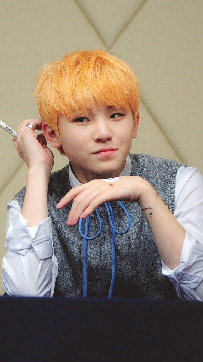 Seventeens Orange Hair Colors Kpop Korean Hair And Style