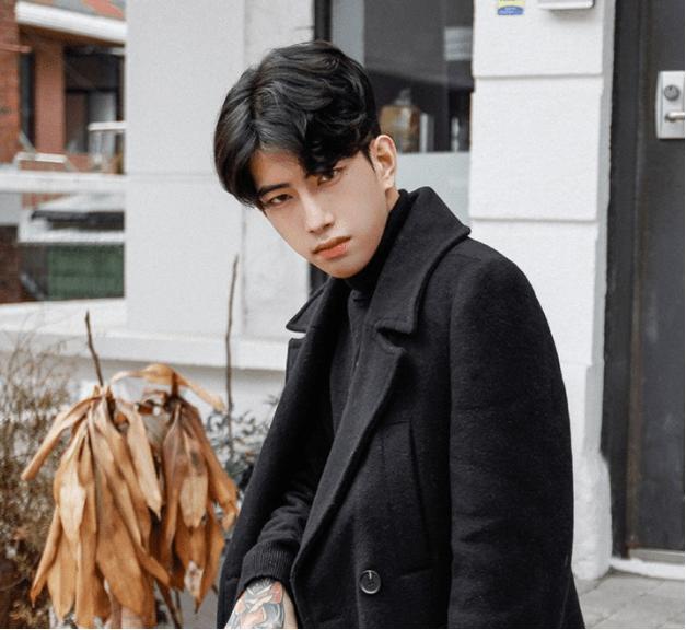 korea korean kpop idol artist group male model parting perm two block cut haircut curly wavy hairstyle guys men kpopstuff