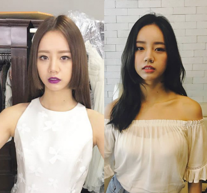 girls day hyeri short straight hime cut with natural black long hair for women