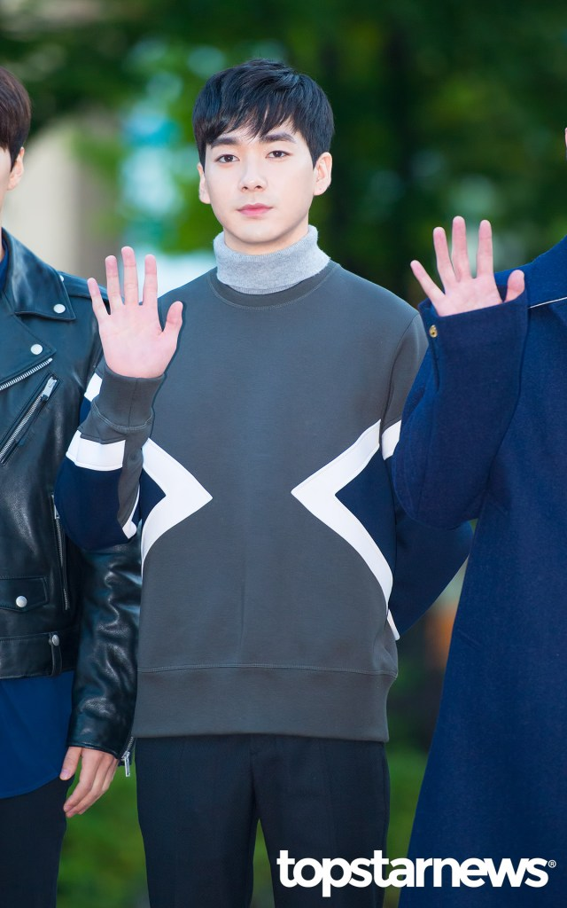 korea korean kpop idol boy band group nuest w's fashion music bank appearance aron turtleneck sweater fall outfit looks guys men kpopstuff