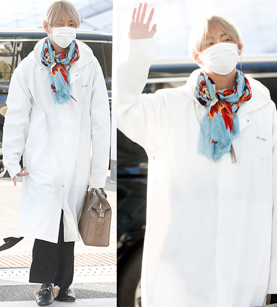 Bts Mama Airport Fashion 39 95 Liner V Jimin On The Way