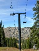 landscape with chairlift