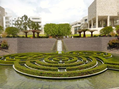 Getty Museum labyrinth garden