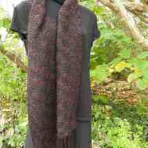 scarf double weave red, black 16.148