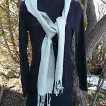 scarf light green silk 16.27
