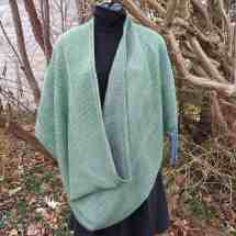 wrap hand dyed block twill green 17.151