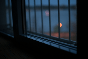 Twilight in the hotel room