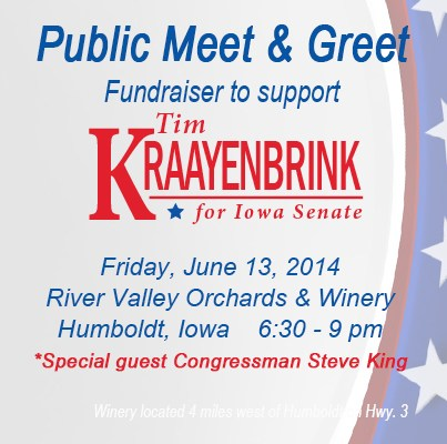 Public event in Humboldt to support Republican Tim Kraayenbrink