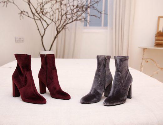 botines de tacon zapatos 2018 terciopelo