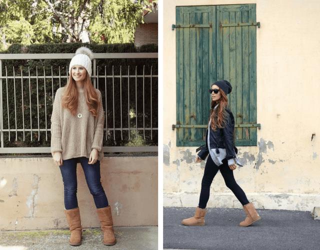 outfits moda de mujer con botas esquimales marca ugg
