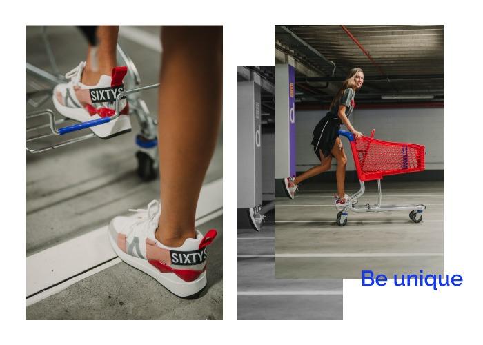 deportivas plataforma rojas sixty seven suela ancha chunky sneakers