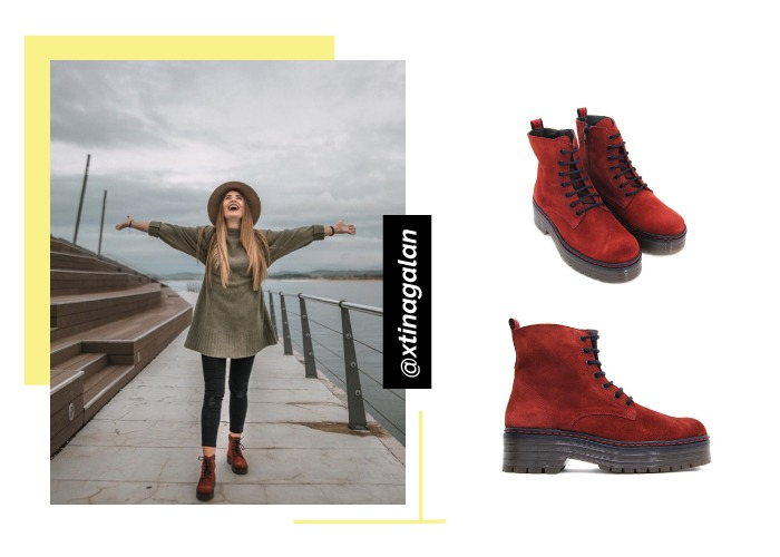 social looks zapatos instagram botas cordones bryan xtinagalan