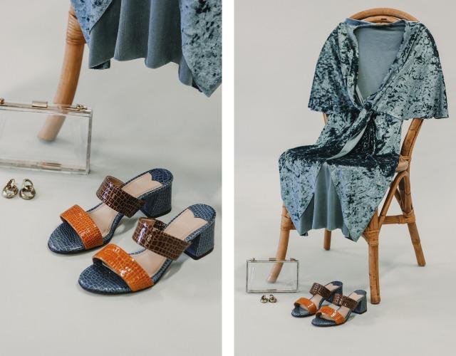 looks invitada sandalias destalonadas tacon rt by roberto torretta vestido terciopelo