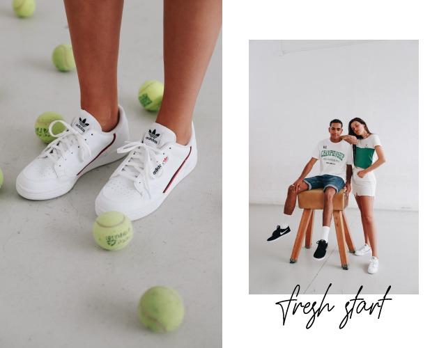 zapatillas de moda blancas adidas continental 80 mujer