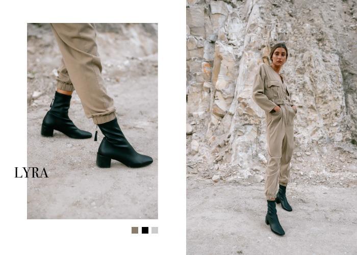 botas negras de tacon staff collection aura en krackonline