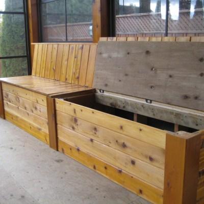 Cedar Storage Bench 2