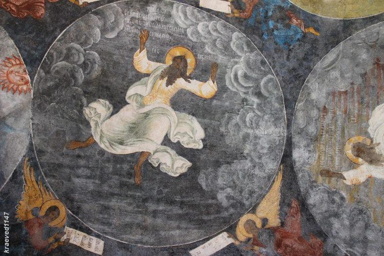 """""""Сотворение мира"""". Фреска храма Ильи Пророка. г.Ярославль"""