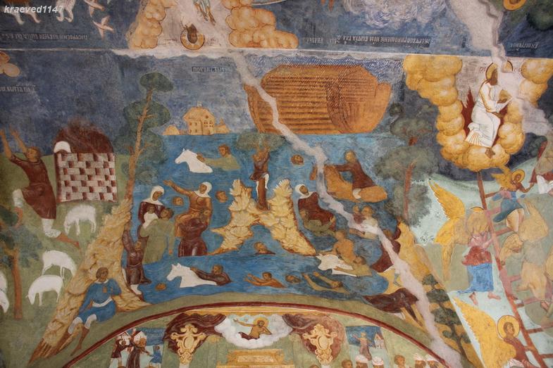 Всемирный потоп. Фреска в церкви Ильи Пророка. г.Ярославль