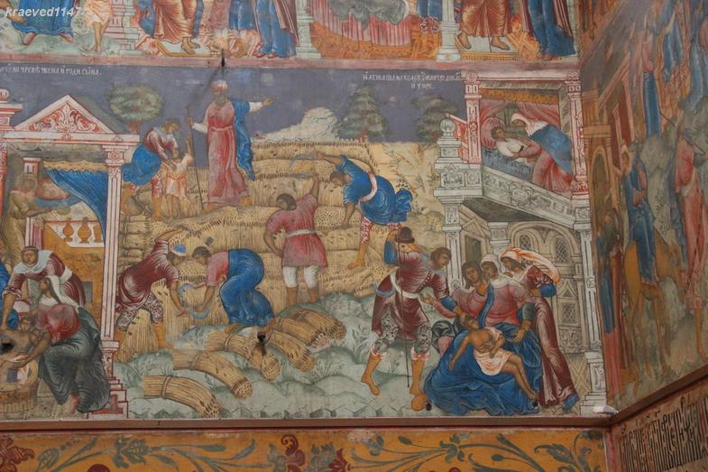 Жатва. Фреска в церкви Ильи Пророка г.Ярославль