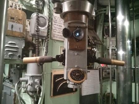 The periscope on board the USS Growler sub.
